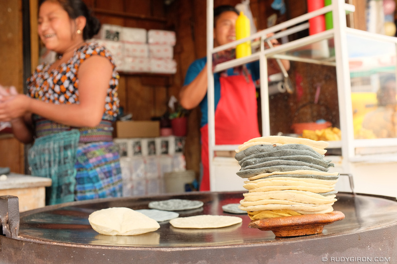 Rudy Giron: Antigua Guatemala &emdash; Yellow, Black and White Tortillas