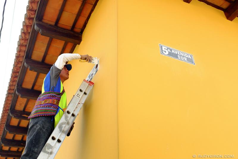Rudy Giron: Antigua Guatemala &emdash; New Street Sign in Antigua Guatemala