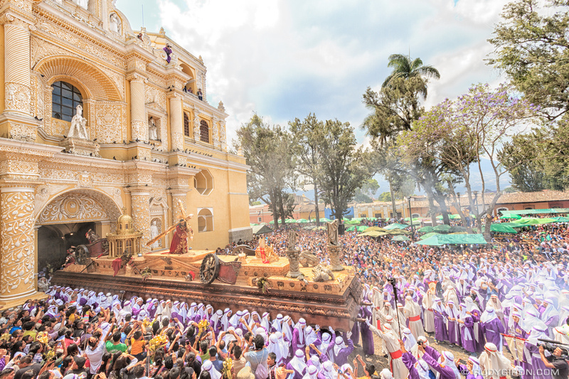 Rudy Giron: Antigua Guatemala &emdash; Holy Week Processions — La Reseña of La Merced 1