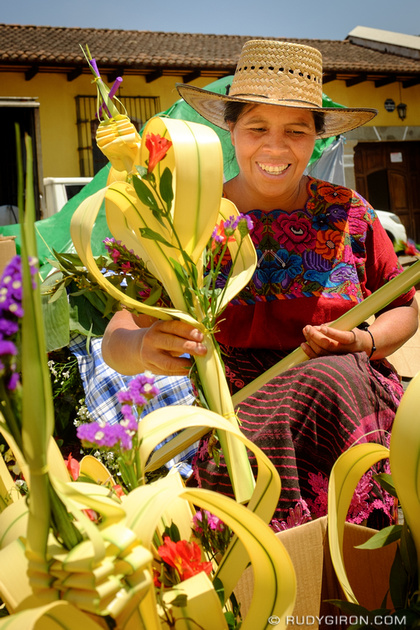Rudy Giron: Antigua Guatemala &emdash; Maya Selling Palm Sunday Bouquets