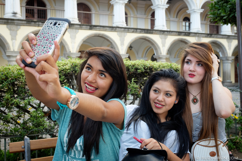 Rudy Giron: Antigua Guatemala &emdash; Portrait of A Selfie at Parque Central
