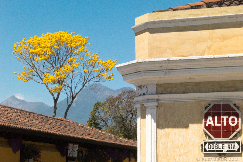 Rudy Giron: Antigua Guatemala &emdash; Typical Vista At A Corner of Antigua Guatemala