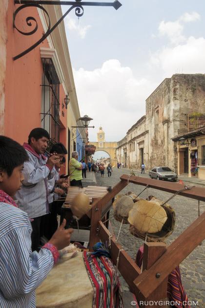 Rudy Giron: Antigua Guatemala &emdash; Live Maya Marimba Music at Calle del Arco