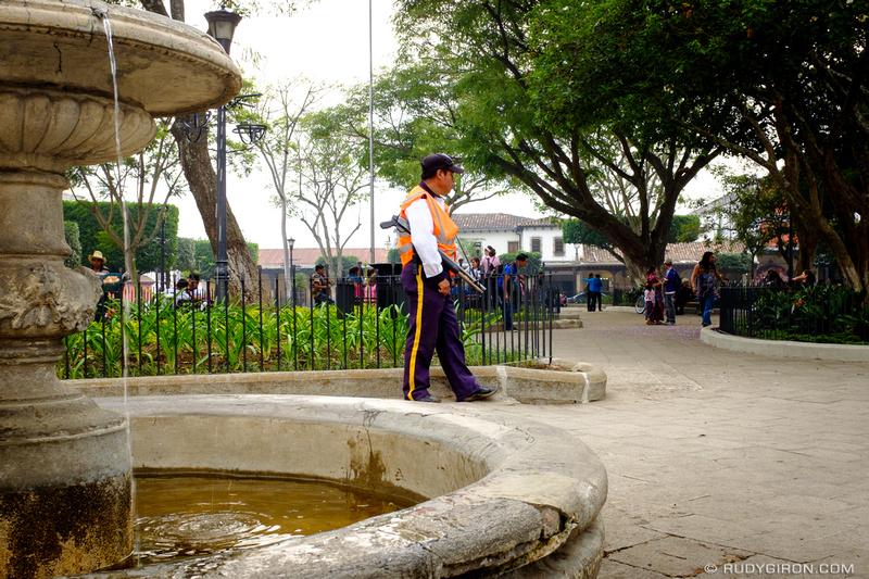 Rudy Giron: Antigua Guatemala &emdash; Guarding The Garden Areas