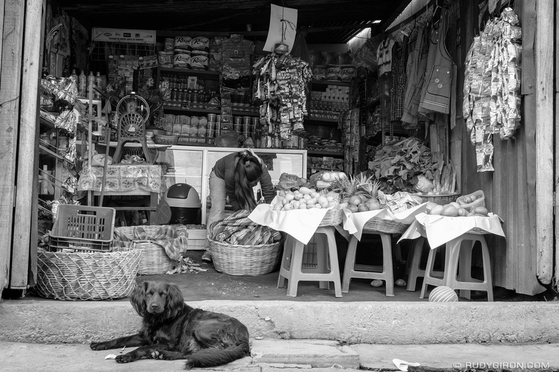 Rudy Giron: Antigua Guatemala &emdash; Convenience Store and Guarding Dog