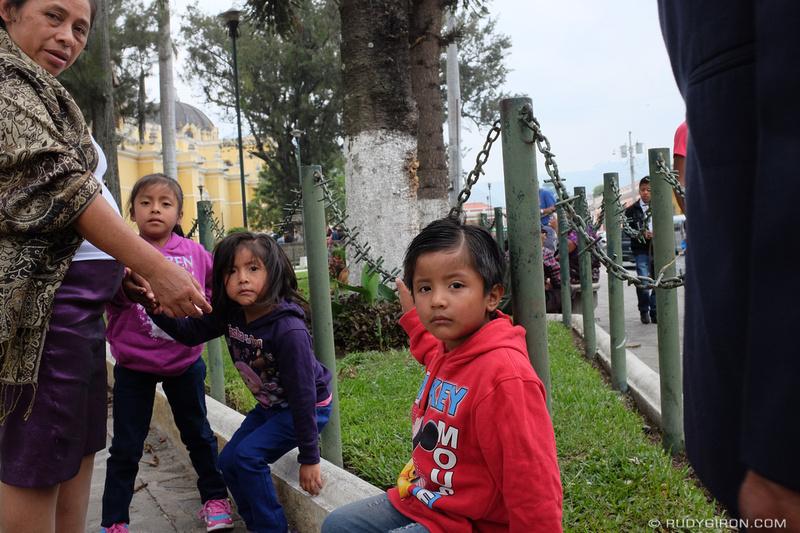 Rudy Giron: Antigua Guatemala &emdash; Family Time By La Merced Church