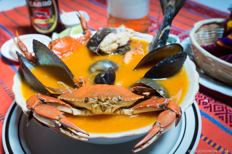 Rudy Giron: Antigua Guatemala &emdash; Guatemalan Food — Caldo de Mariscos by Rudy Giron