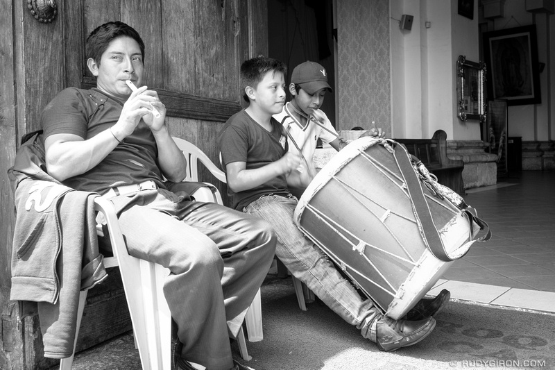 Rudy Giron: Antigua Guatemala &emdash; Chirimilla and Drums at the Entrance of the Parroquia San José