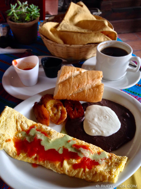 Rudy Giron: Antigua Guatemala &emdash; Guatemalan Omelette Breakfasts from El Viejo Cafe