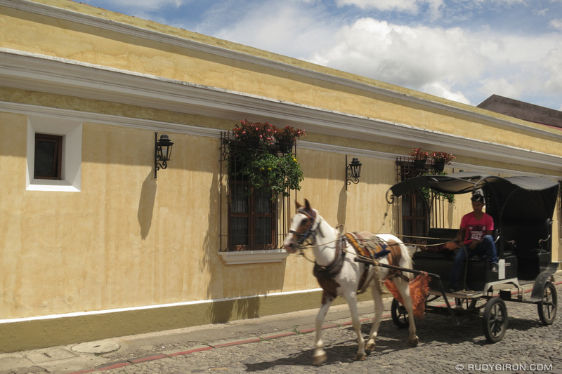 Rudy Giron: Antigua Guatemala &emdash; Horse-powered Carriage
