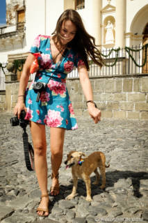 Street Photography — The photographer and her rescued dog