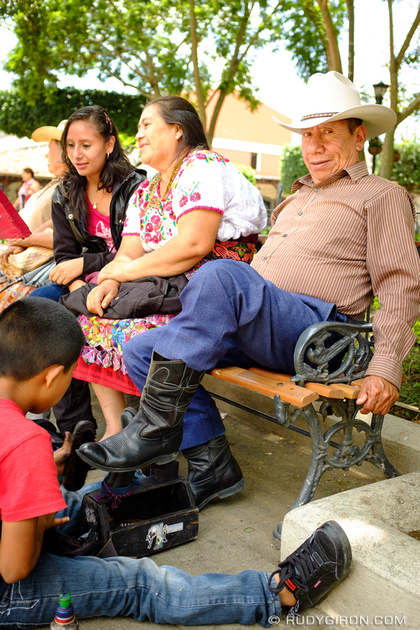 Rudy Giron: Antigua Guatemala &emdash; Tourists at Parque Central