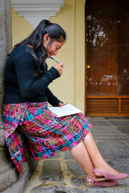 Rudy Giron: Antigua Guatemala &emdash; Writing a letter at Palacio Real de los Capitanes