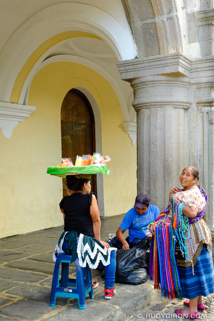 Rudy Giron: Antigua Guatemala &emdash; Gathering of Street Vendors in Antigua Guatemala