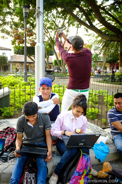 Rudy Giron: Antigua Guatemala &emdash; Hacking and Phraking at Parque Central, Antigua Guatemala