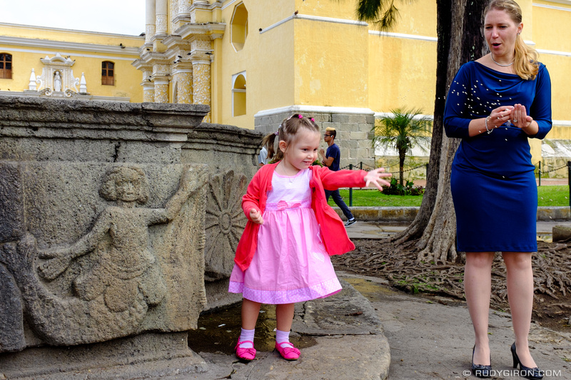 Rudy Giron: Antigua Guatemala &emdash; Feeding the Doves at Iglesia de La Merced