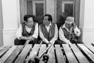 Slices of Daily Life — Marimba players taking a break
