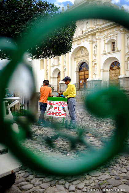 Rudy Giron: Antigua Guatemala &emdash; Traditional Ice Cream Carts in Antigua Guatemala