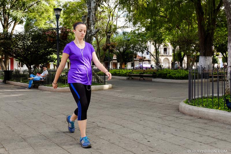 Rudy Giron: Antigua Guatemala &emdash; Everyday Guatemala — Exercise at Parque Central