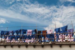Airing the laundry at Casa Presidencial in Antigua Guatemala