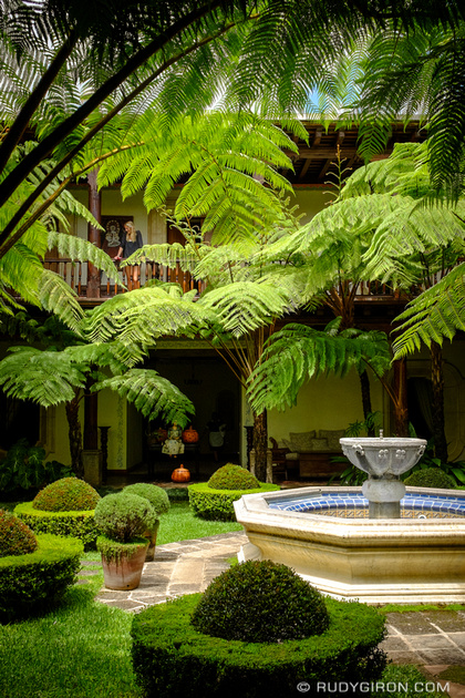 Rudy Giron: Antigua Guatemala &emdash; Lush gardens and patios of Antigua Guatemala