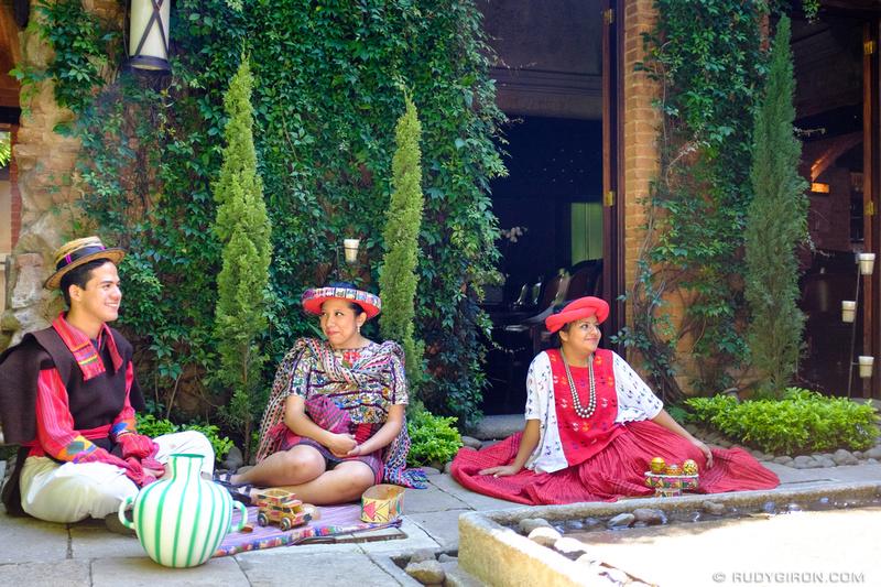 Rudy Giron: Antigua Guatemala &emdash; Real Human Mannequins Displaying Mayan Textiles