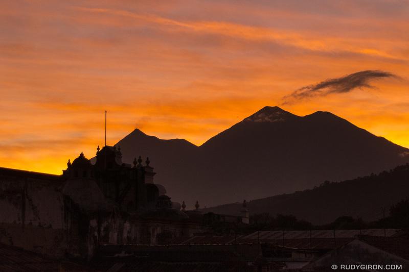 Rudy Giron: Antigua Guatemala &emdash; Dry Season Sunsets in Antigua Guatemala