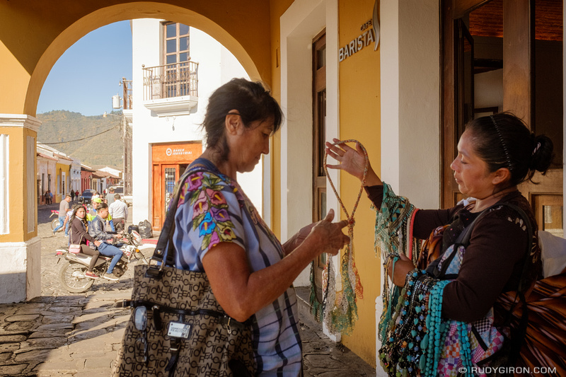 Rudy Giron: Antigua Guatemala &emdash; The Ambulant Handicraft Vendors