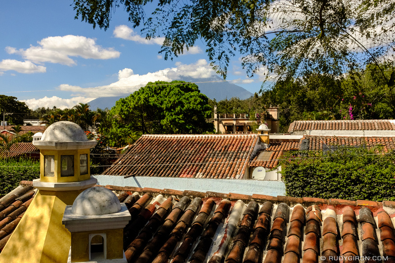 Rudy Giron: Antigua Guatemala &emdash; Antigua Guatemala Rooftop View During Winter