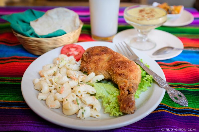 Rudy Giron: Antigua Guatemala &emdash; Guatemalan Daily Menu — Pollo Empanizado