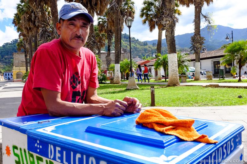 Rudy Giron: Antigua Guatemala &emdash; Portrait of a Traditional Ice Cream Cart Vendor