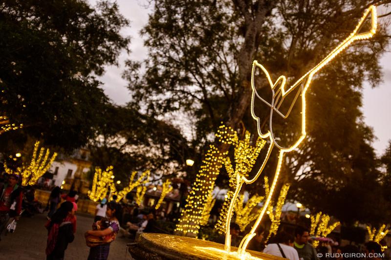 Rudy Giron: Antigua Guatemala &emdash; Christmas lights at Parque Central in Antigua Guatemala