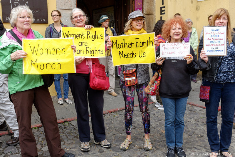 Rudy Giron: Antigua Guatemala &emdash; Women's March in Antigua Guatemala 5