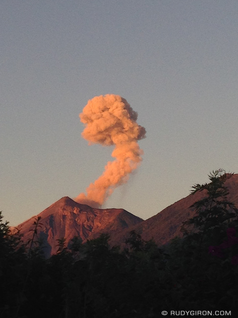 Rudy Giron: Antigua Guatemala &emdash; Fuego volcano is such an exhibitionist