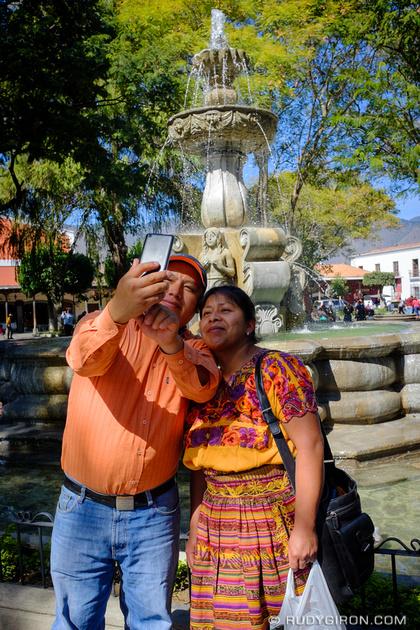 Rudy Giron: Antigua Guatemala &emdash; Mayas Doing Selfies in Antigua Guatemala