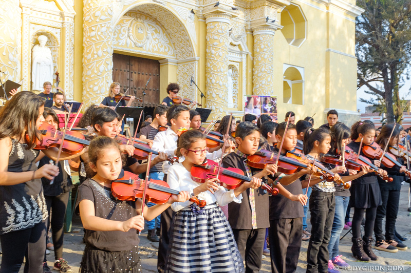 Rudy Giron: Antigua Guatemala &emdash; QuinTango and Sonidos Para La Vida Perfomed a Free Concert in Antigua Guatemala