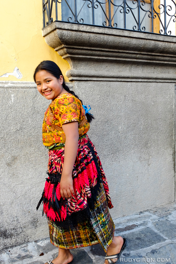 Rudy Giron: Antigua Guatemala &emdash; Maya Portraits — Young Woman on the Move