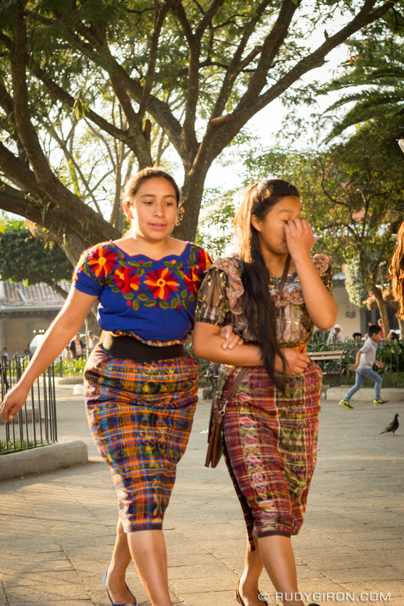 Rudy Giron: Antigua Guatemala &emdash; Maya Portraits — Young Maya Women Care Each Other