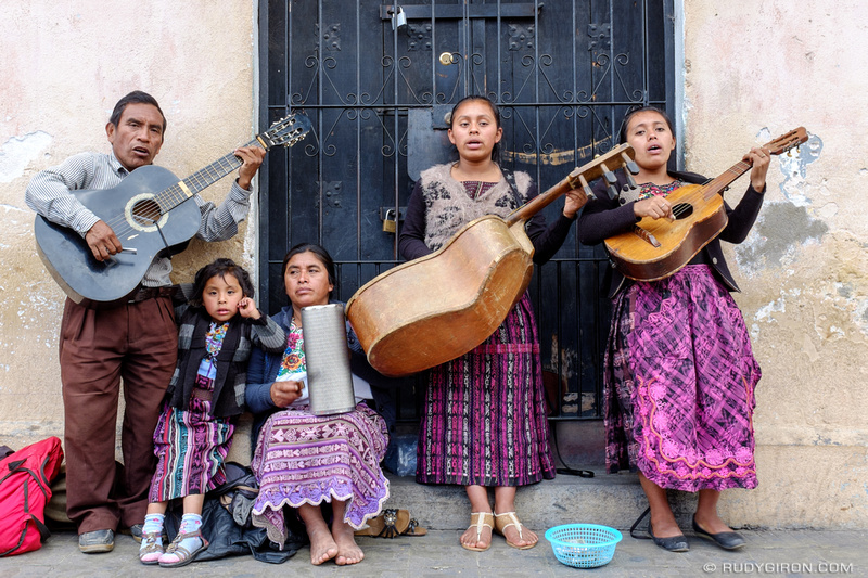 Rudy Giron: Antigua Guatemala &emdash; Mayan Family Playing Religious Music