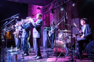 Big Wy's Brass Band at Guatemala's Jazz Festival in Antigua Guatemala