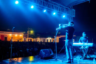 Duo Soupstar at Guatemala's Jazz Festival in Antigua Guatemala