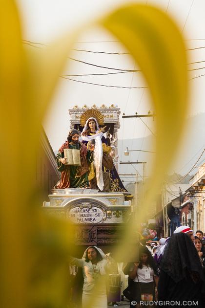 Rudy Giron: Antigua Guatemala &emdash; Holy Week Vistas — Palm Sunday Virgin Mary Procession