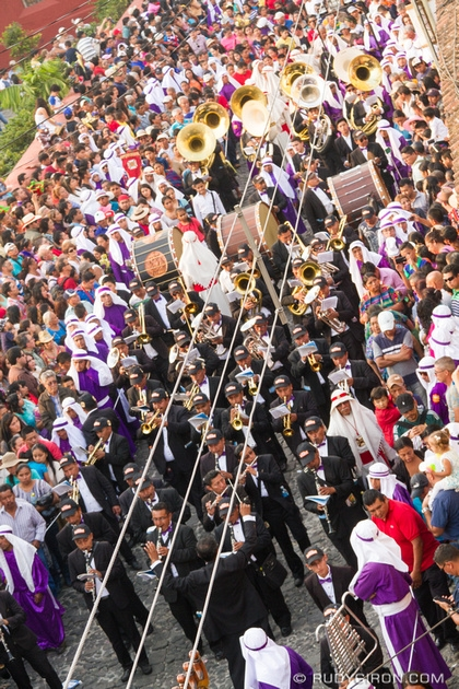 Rudy Giron: Antigua Guatemala &emdash; Holy Week Vistas — Palm Sunday Processional Band