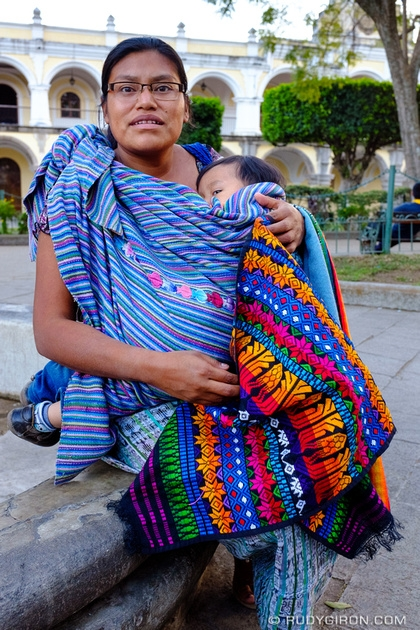 Rudy Giron: Antigua Guatemala &emdash; Mother working on the streets selling textiles