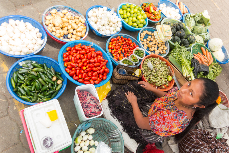 Rudy Giron: Antigua Guatemala &emdash; Vegetable stand at the Santa Maria de Jesus market