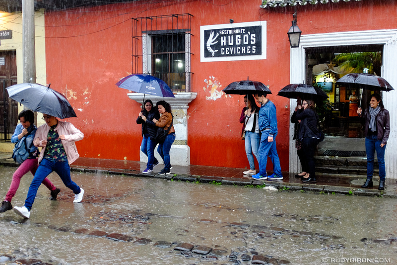Rudy Giron: Antigua Guatemala &emdash; It's Umbrella Time in Antigua Guatemala