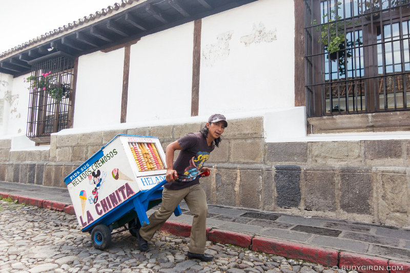 Rudy Giron: Antigua Guatemala &emdash; Traditional ice cream carts of Antigua Guatemala