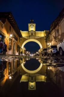 Calle del Arco after heavy rains brought by tropical storm Franklin. Photo by Antigua Daily Photo reader David Melgar