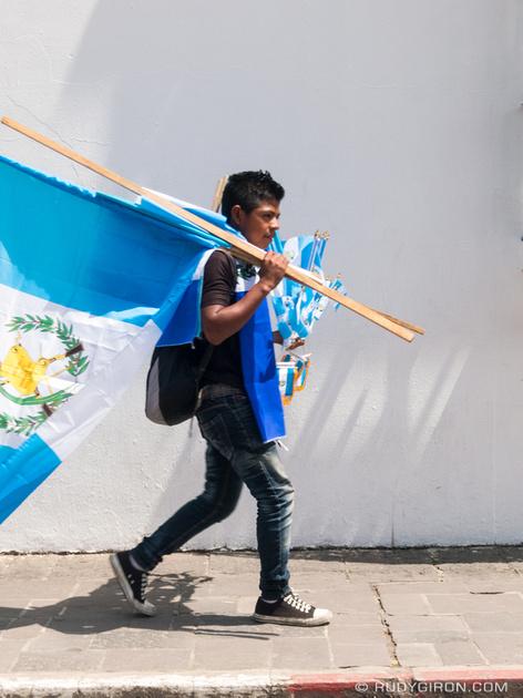 Rudy Giron: Antigua Guatemala &emdash; Here come the Guatemalan flags