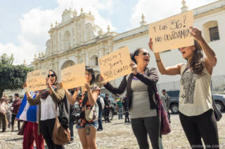 Protests in Antigua Guatemala against Jimmy Morales administration